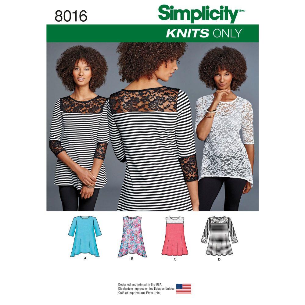 S8016 Simplicity sewing pattern A (XXS-XS-S-M-L-XL-XXL)