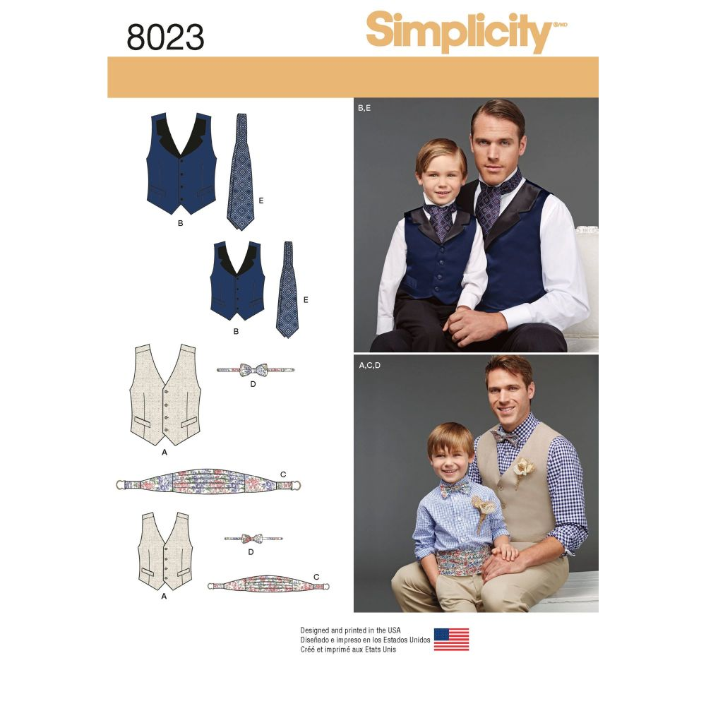 S8023 Simplicity sewing pattern A (S - L / S - XL)