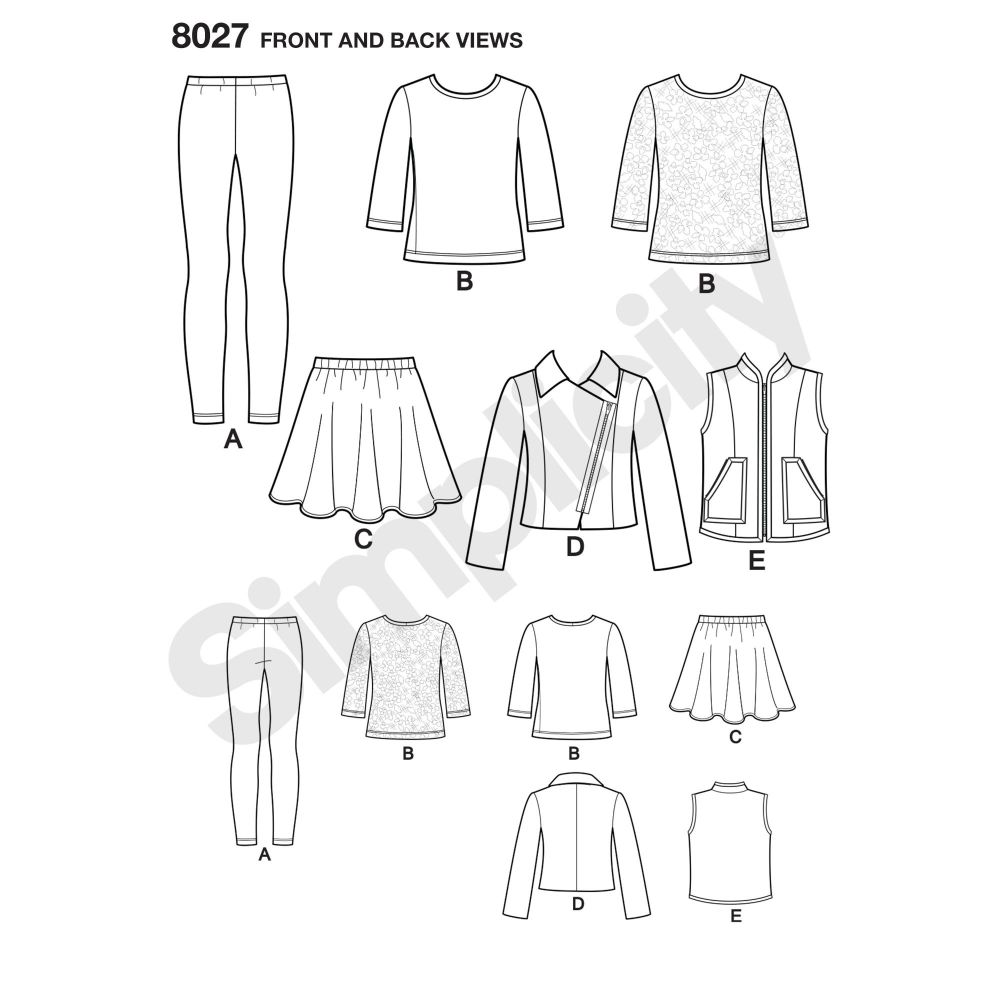 simplicity-girls-pattern-8027-front-back-view