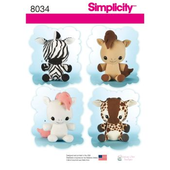 S8034 Simplicity sewing pattern OS (ONE SIZE)