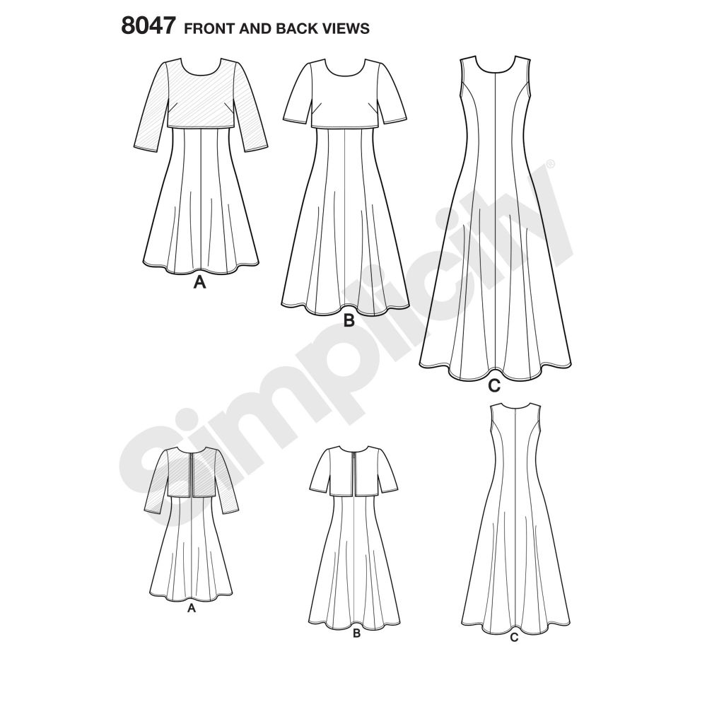 simplicity-dresses-pattern-8047-front-back-view