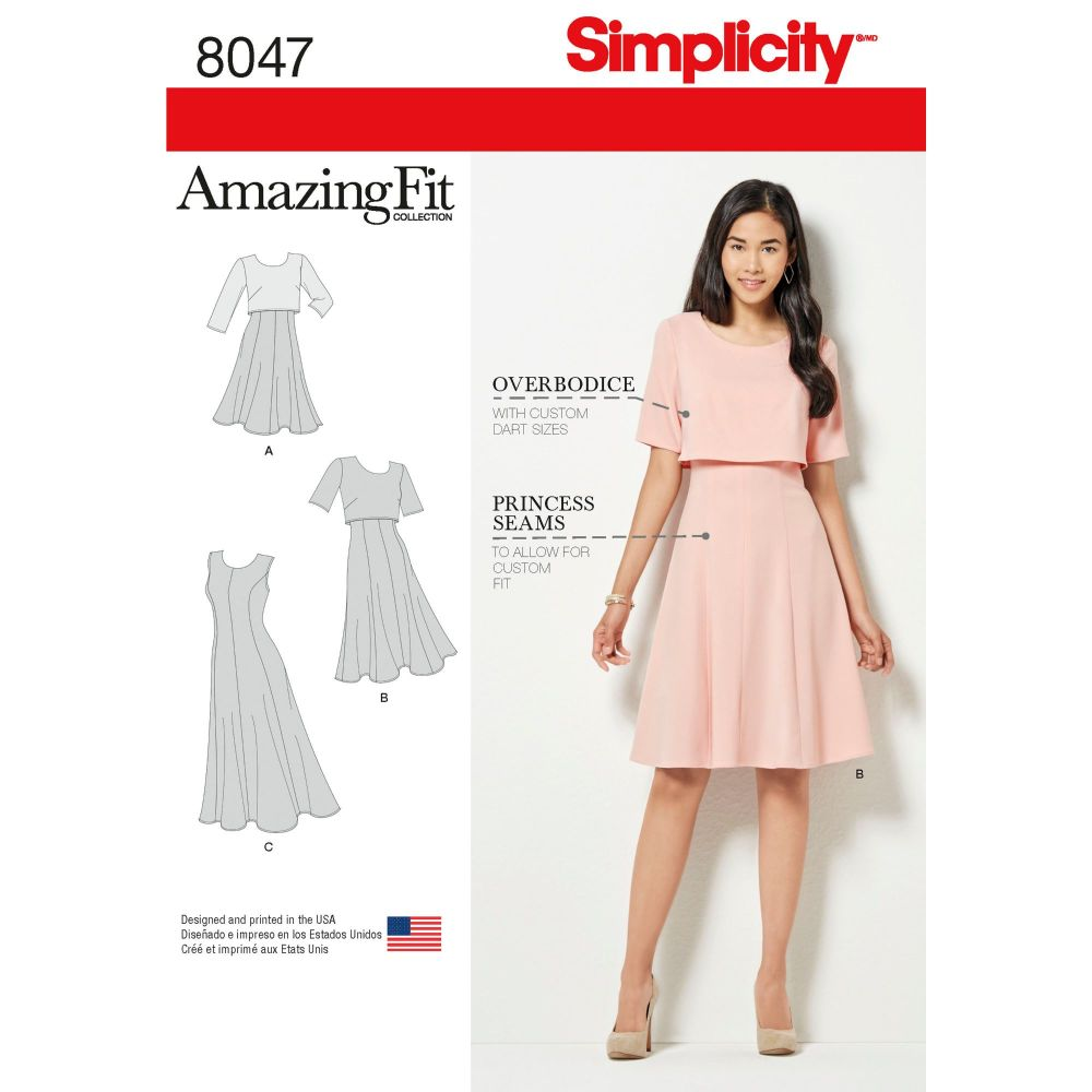 S8047 Simplicity sewing pattern R5 (14-16-18-20-22)