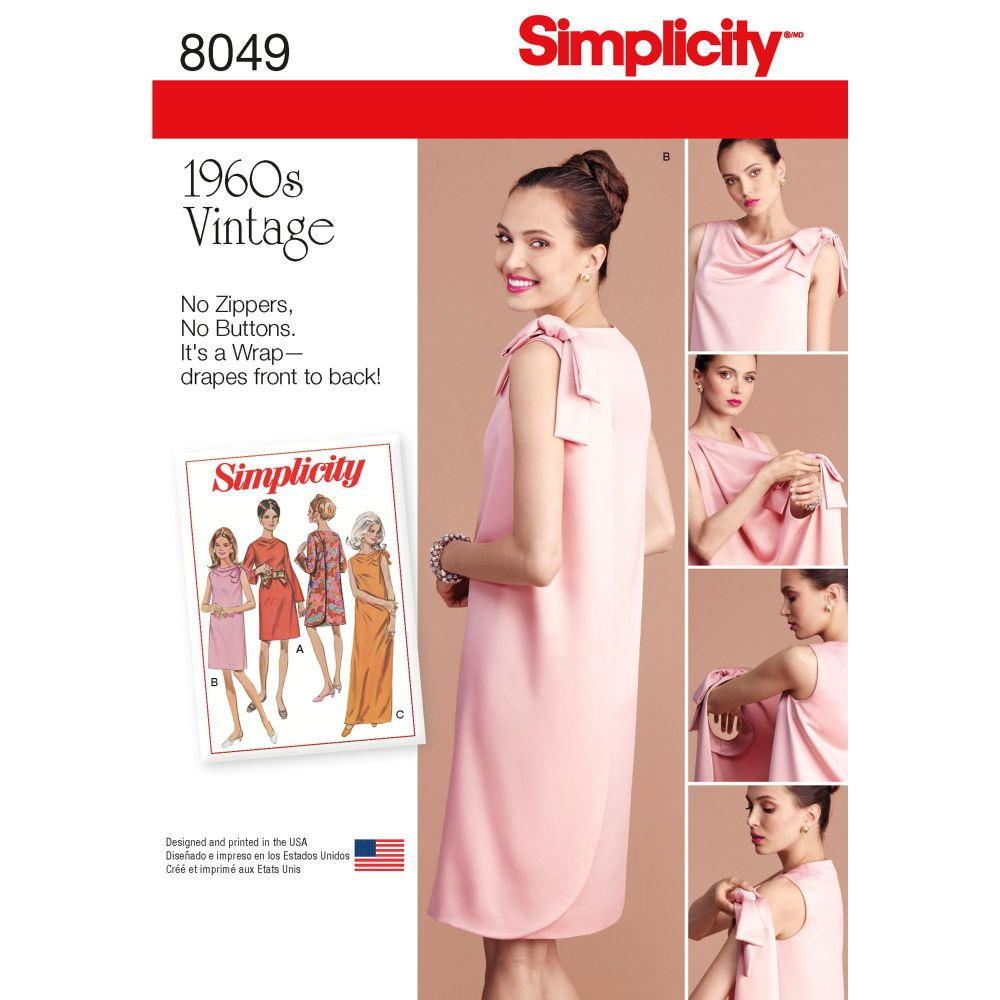S8049 Simplicity sewing pattern K5 (8-10-12-14-16)