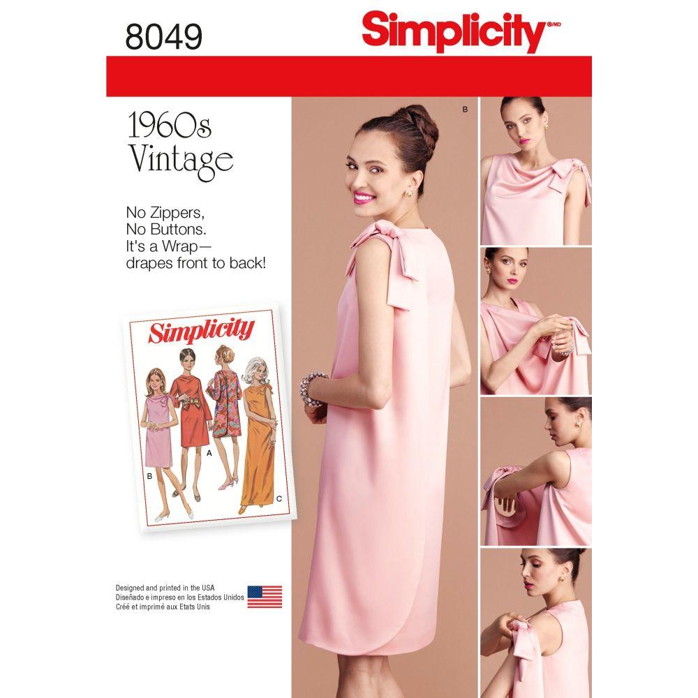 S8049 Simplicity sewing pattern U5 (16-18-20-22-24)