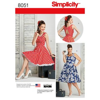 S8051 Simplicity sewing pattern AA (10-12-14-16-18)