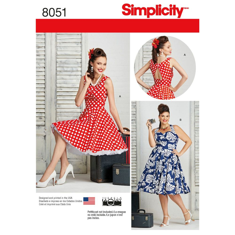 S8051 Simplicity sewing pattern BB (20W-28W)