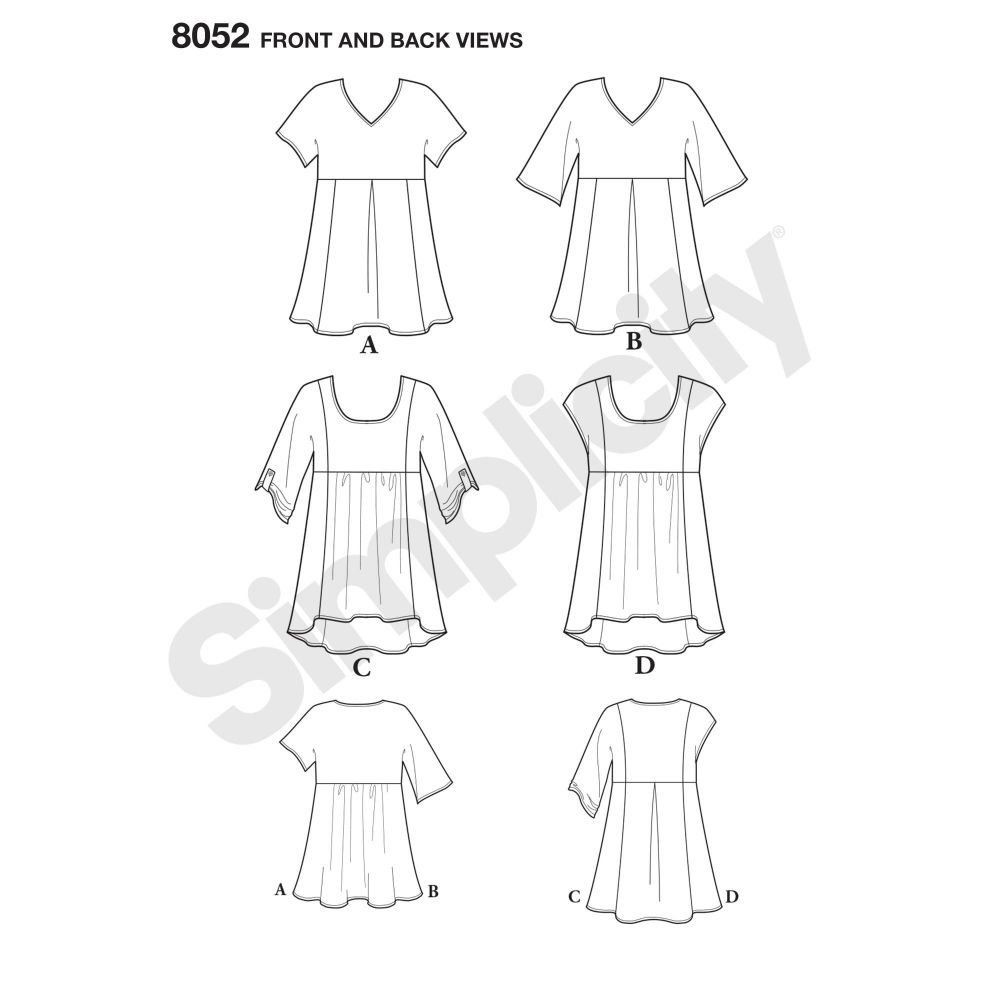 simplicity-tops-vests-pattern-8052-front-back-view