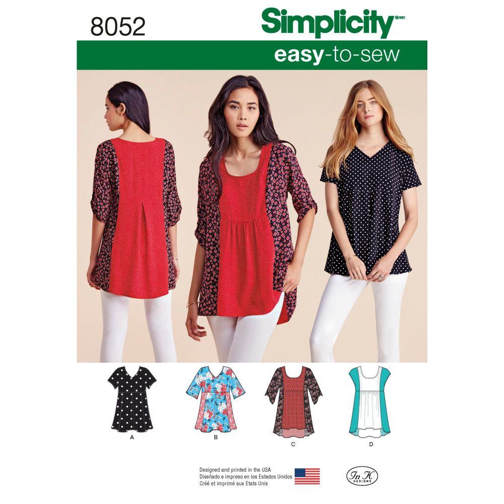 S8052 Simplicity sewing pattern A (XXS-XS-S-M-L-XL-XXL)