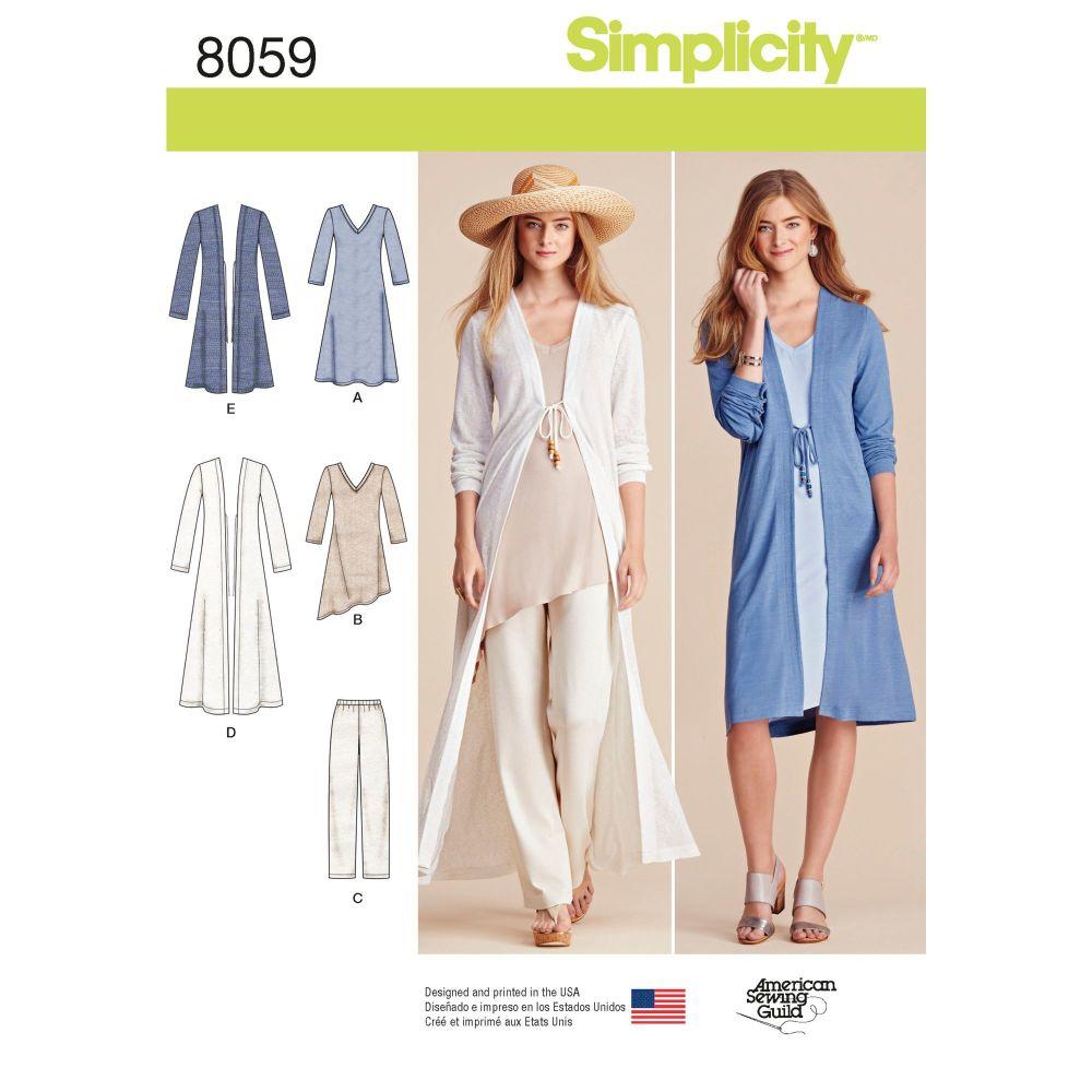 S8059 Simplicity sewing pattern A (XXS-XS-S-M-L-XL-XXL)