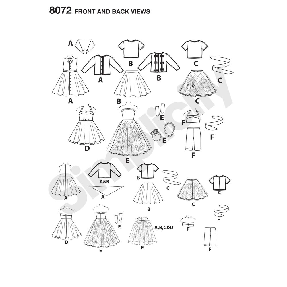 simplicity-doll-clothing-pattern-8072-front-back-view