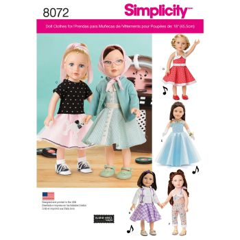 S8072 Simplicity sewing pattern OS (ONE SIZE)