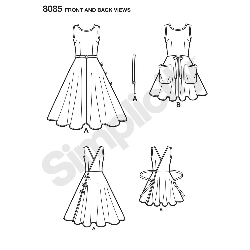 simplicity-dresses-pattern-8085-front-back-view