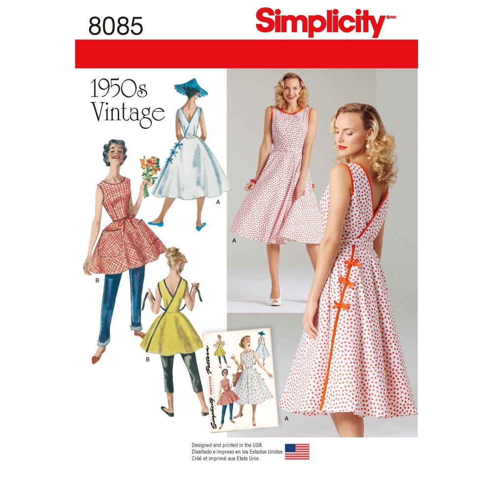 S8085 Simplicity sewing pattern H5 (6-8-10-12-14)