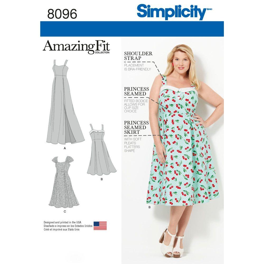 S8096 Simplicity sewing pattern FF (18W-20W-22W-24W)