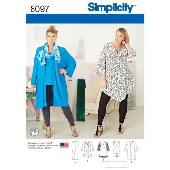 8097 Simplicity sewing pattern GG (26W-28W-30W-32W)