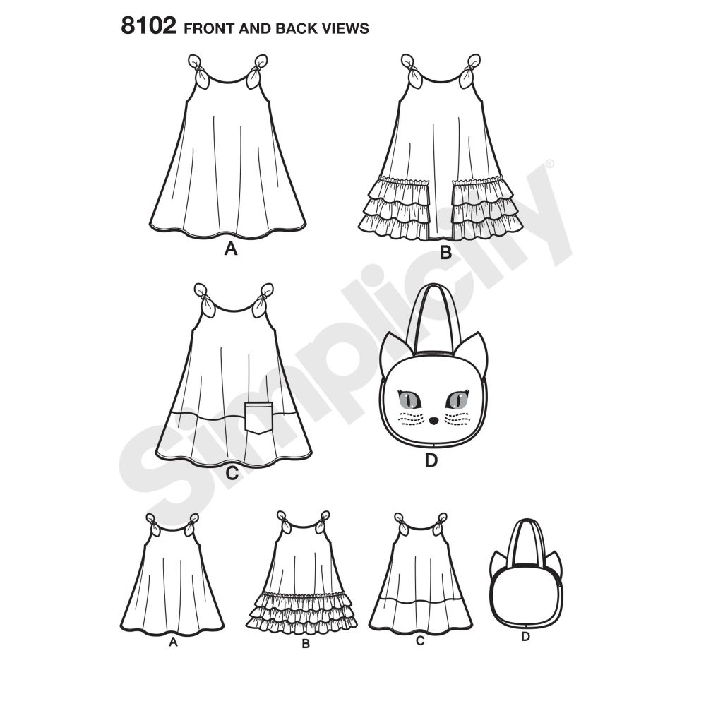 simplicity-girls-pattern-8102-front-back-view