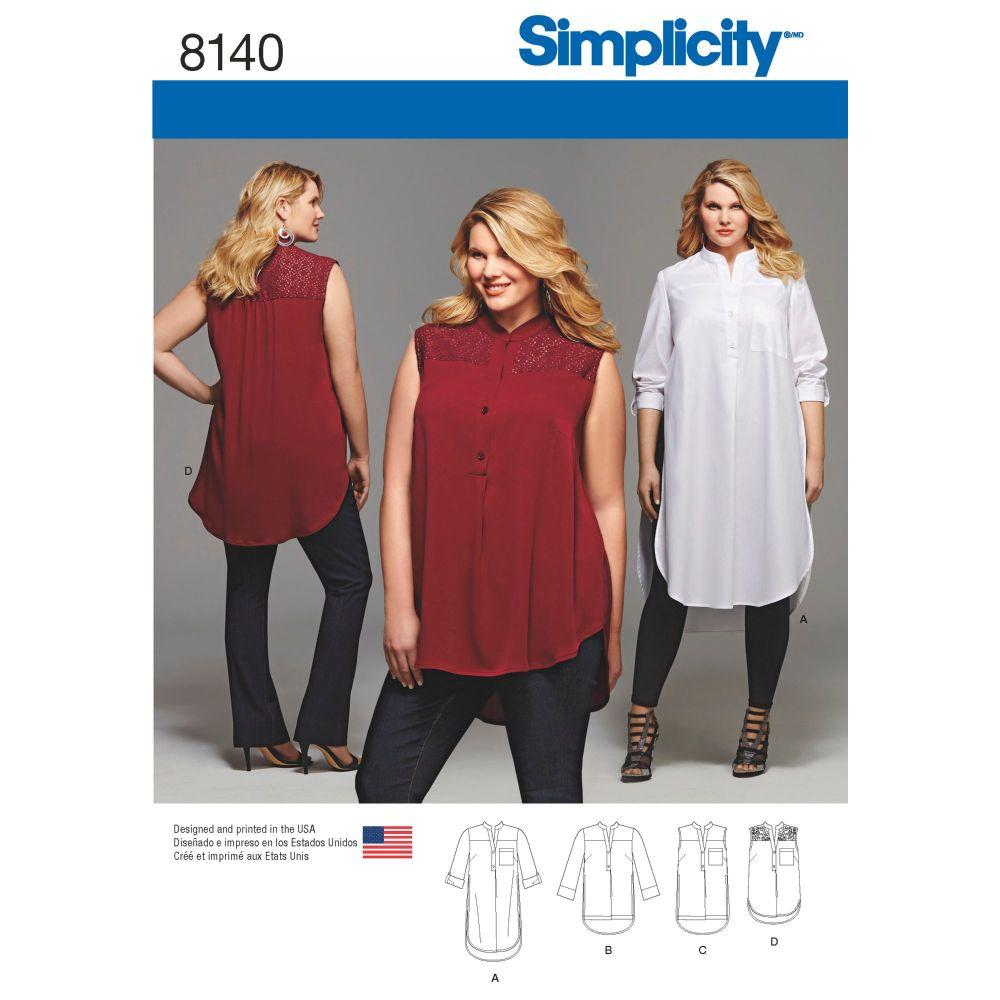 S8140 Simplicity sewing pattern GG (26W-28W-30W-32W)