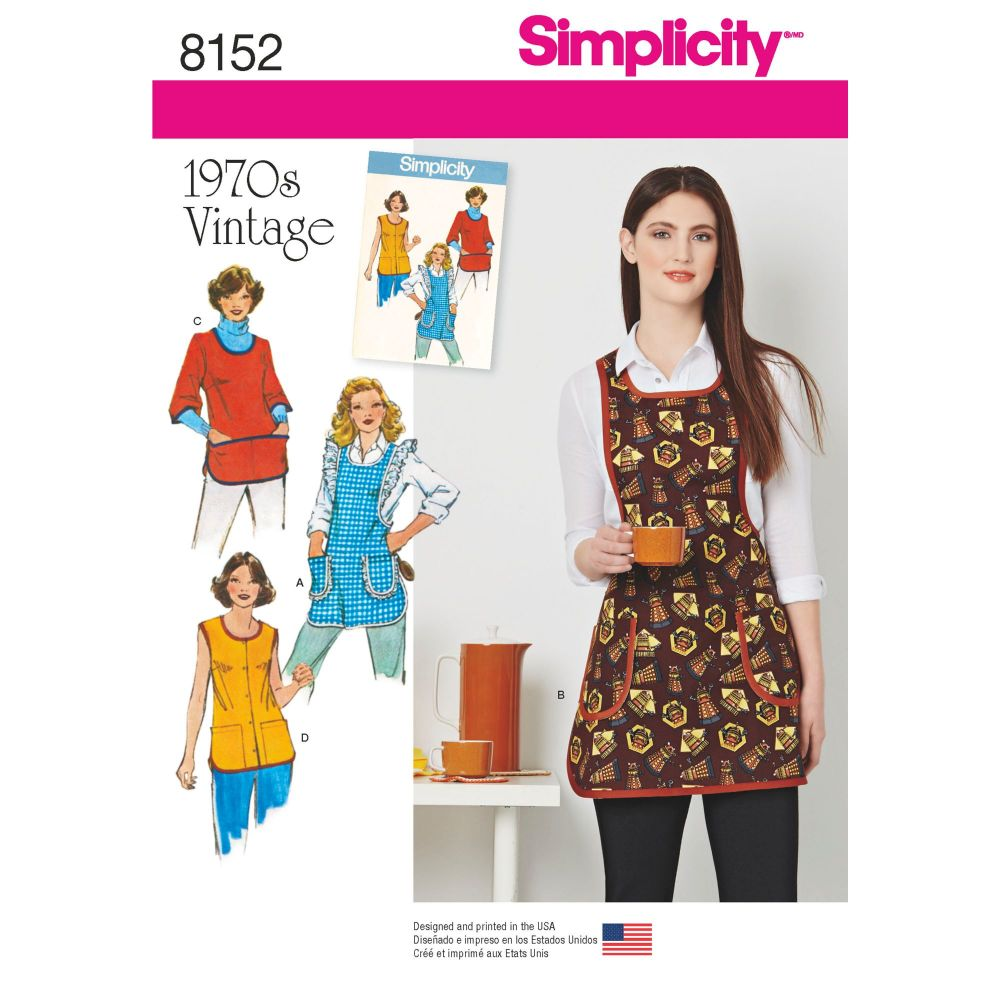 S8152 Simplicity sewing pattern A (XS-S-M-L)