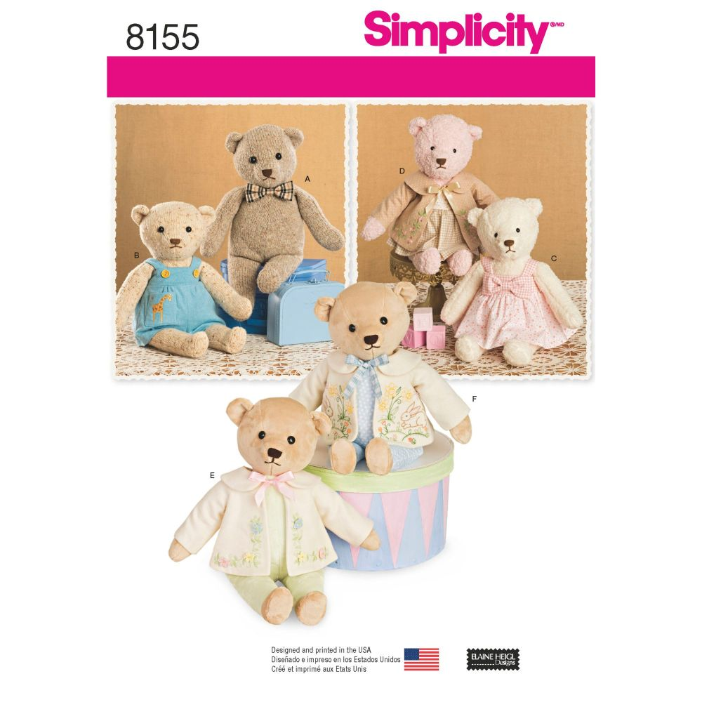 S8155 Simplicity sewing pattern OS (ONE SIZE)