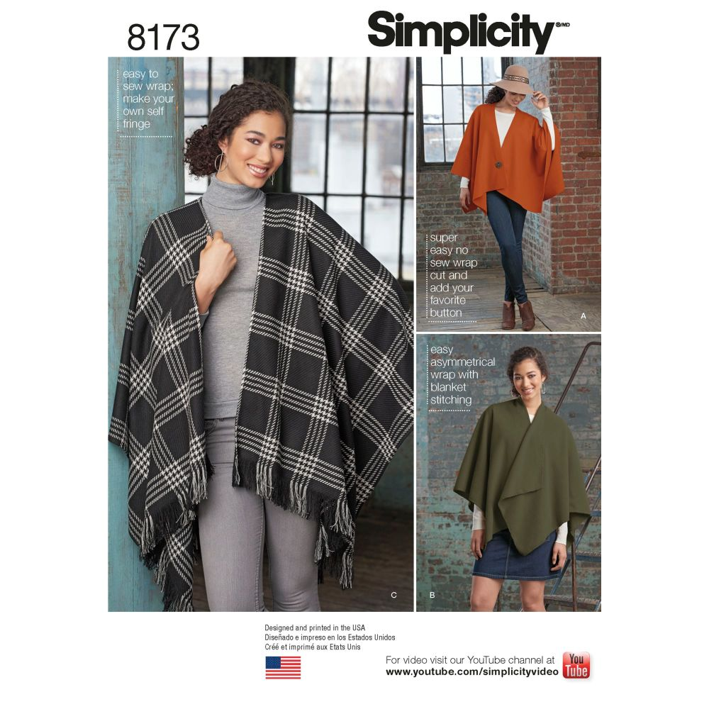 S8173 Simplicity sewing pattern OS (ONE SIZE)