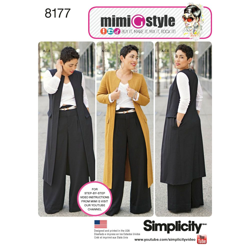 S8177 Simplicity sewing pattern BB (20W-28W)