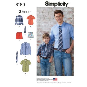 S8180 Simplicity sewing pattern A (S - L / S - XL)