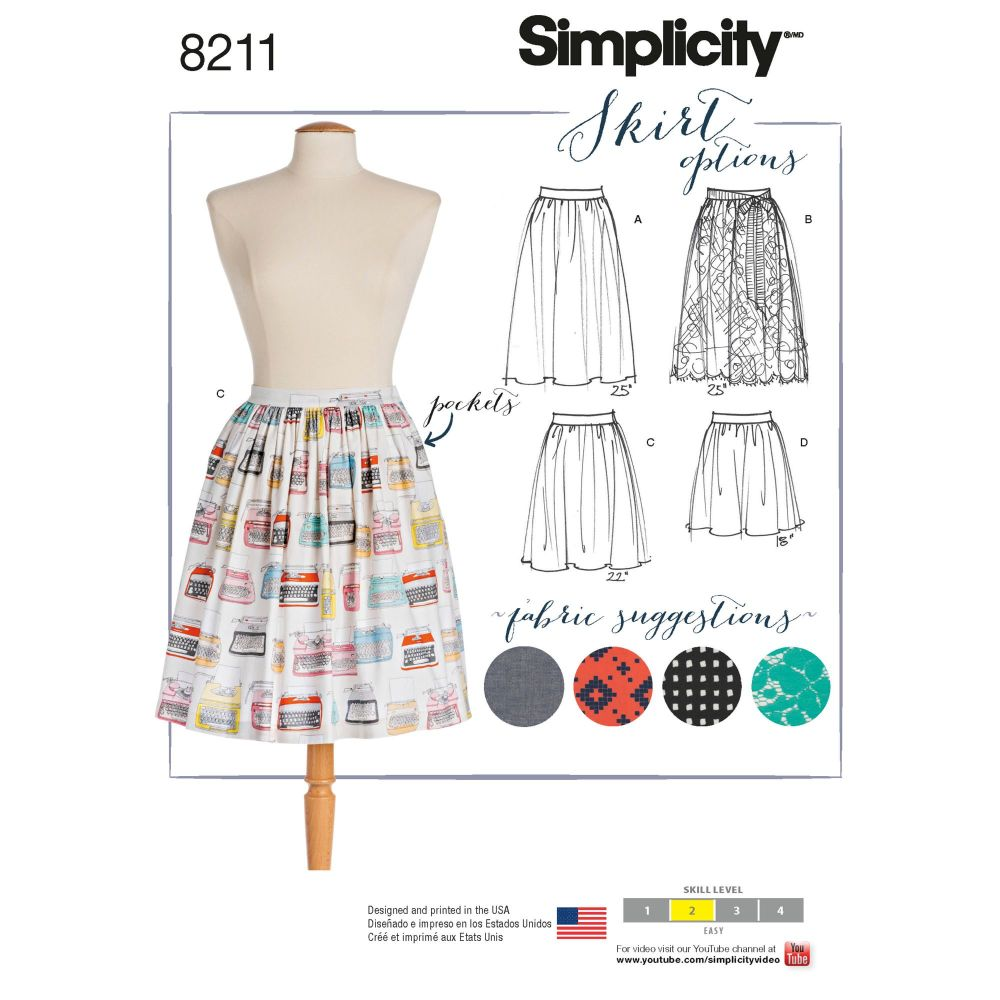 S8211 Simplicity sewing pattern D5 (4-6-8-10-12)