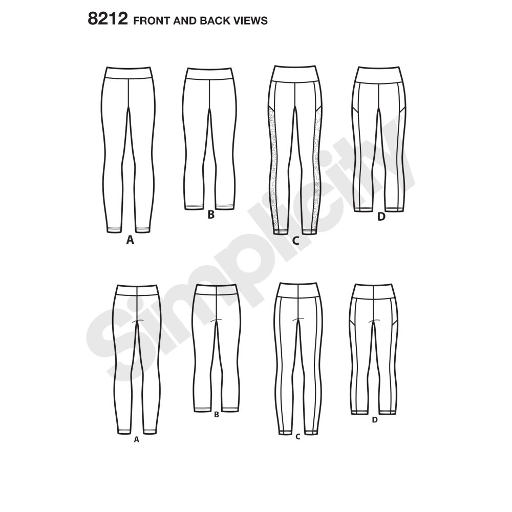 simplicity-skirts-pants-pattern-8212-front-back-view