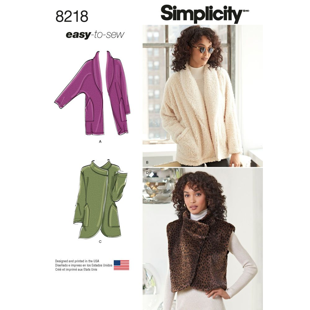 S8218 Simplicity sewing pattern A (XS-S-M-L-XL)