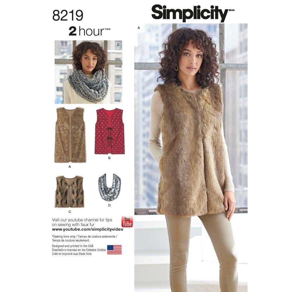 S8219 Simplicity sewing pattern A (XS-S-M-L-XL)