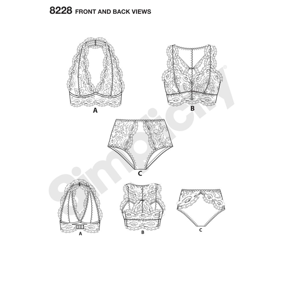 simplicity-accessories-pattern-8228-front-back-view