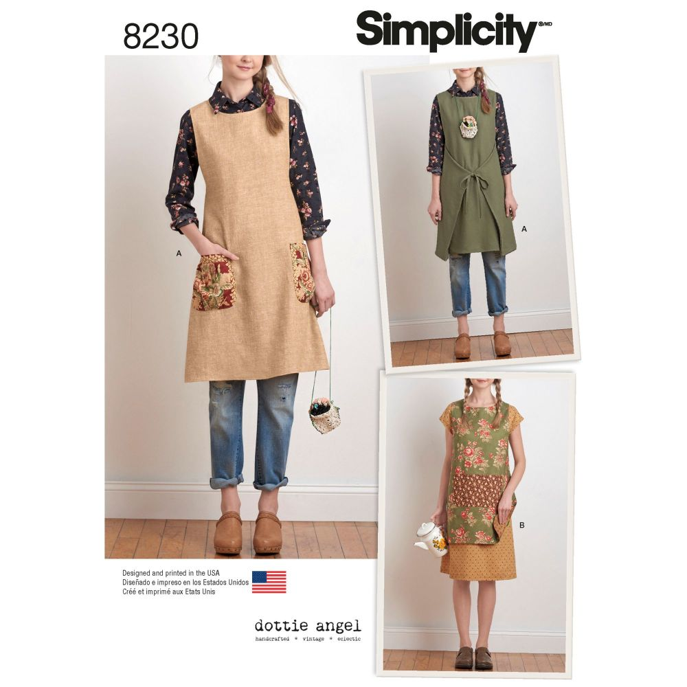 S8230 Simplicity sewing pattern A (XS-S-M-L-XL)