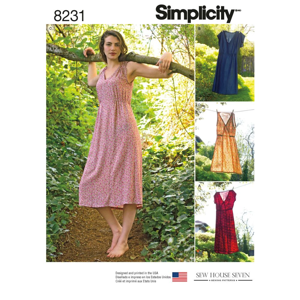 S8231 Simplicity sewing pattern H5 (6-8-10-12-14)