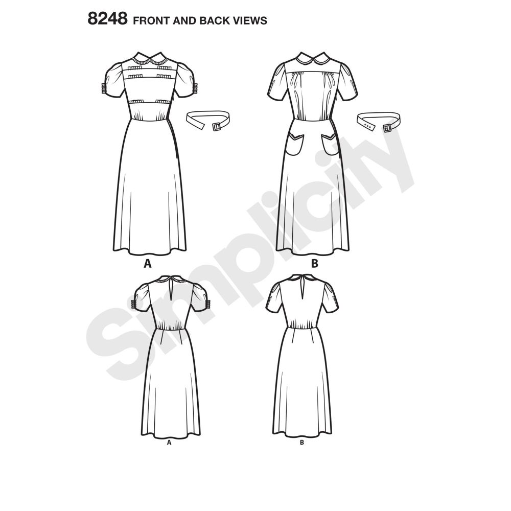 simplicity-dresses-pattern-8248-front-back-view