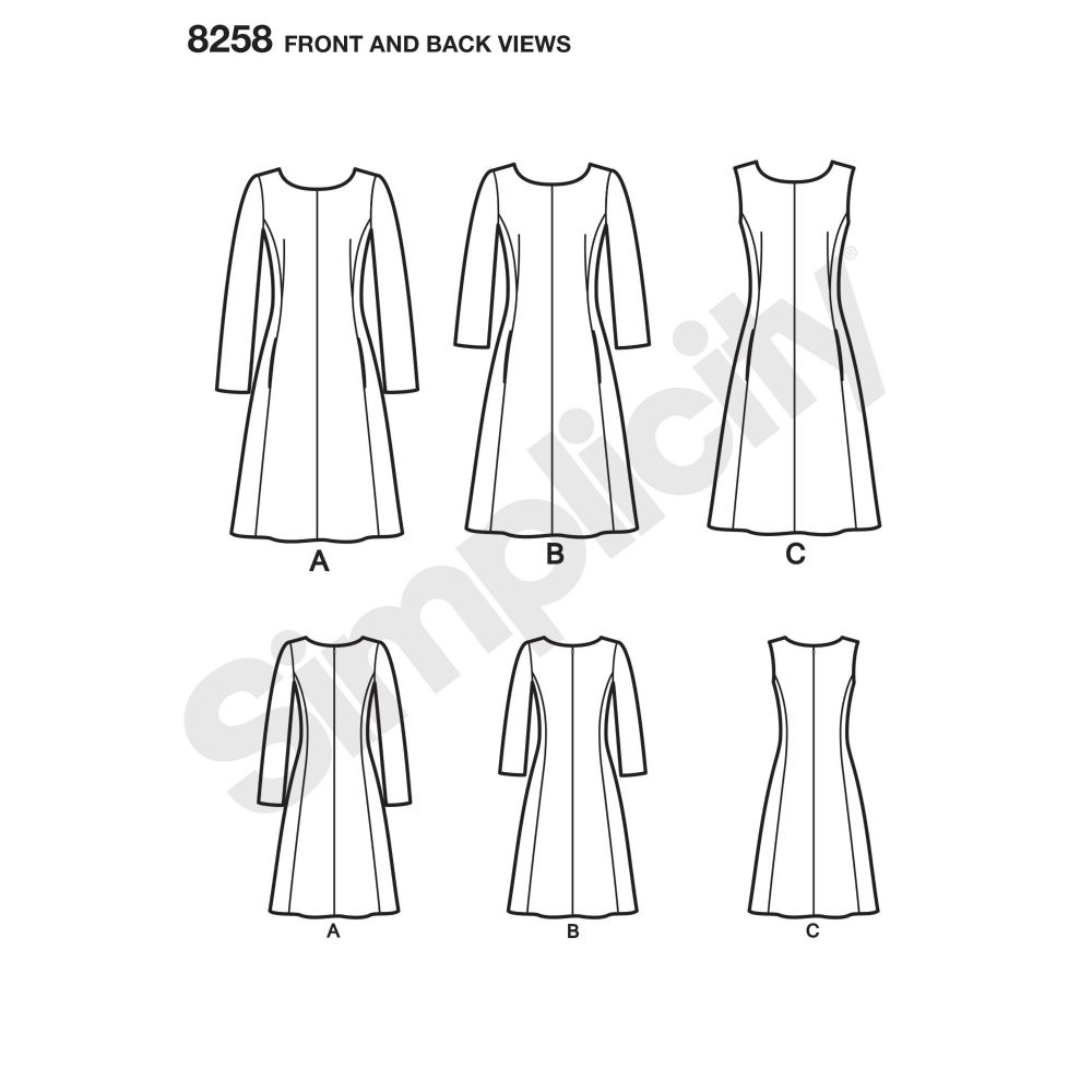 simplicity-dress-pattern-8258-front-back-view