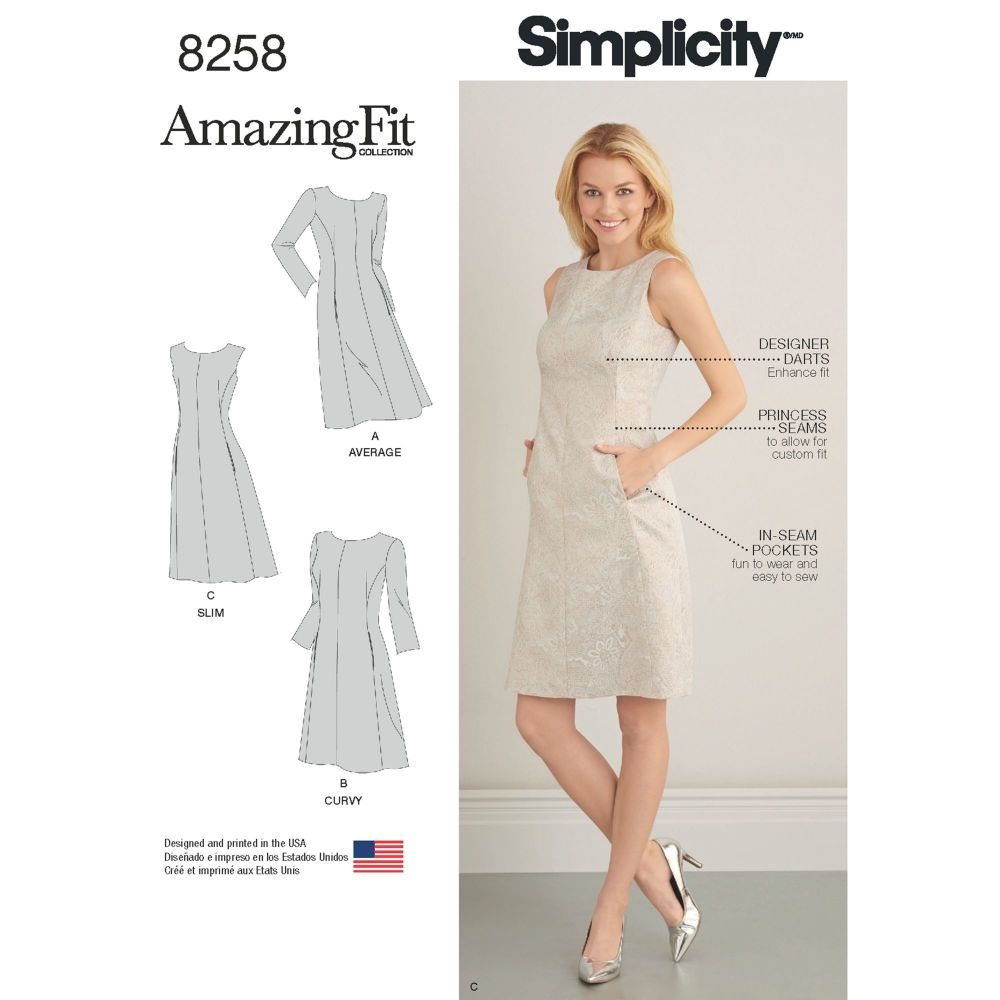 S8258 Simplicity sewing pattern AA (10-12-14-16-18)