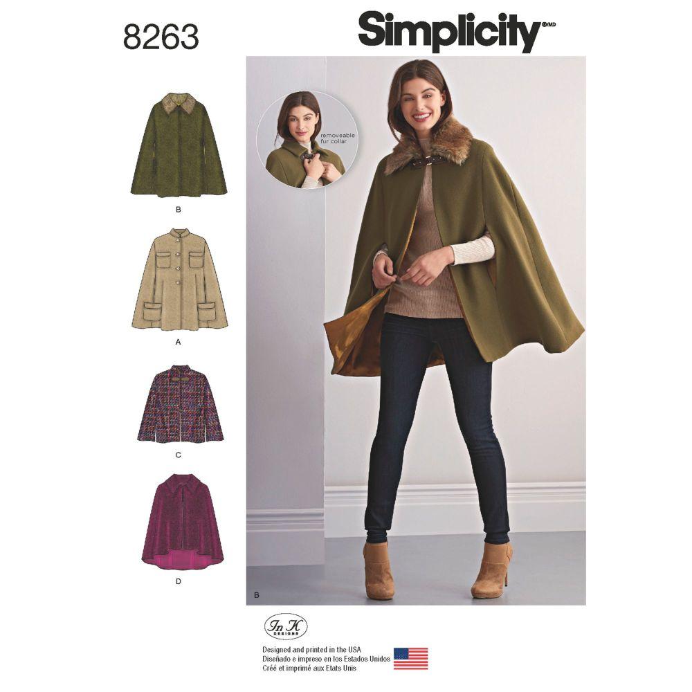 S8263 Simplicity sewing pattern A (XS-S-M-L-XL)