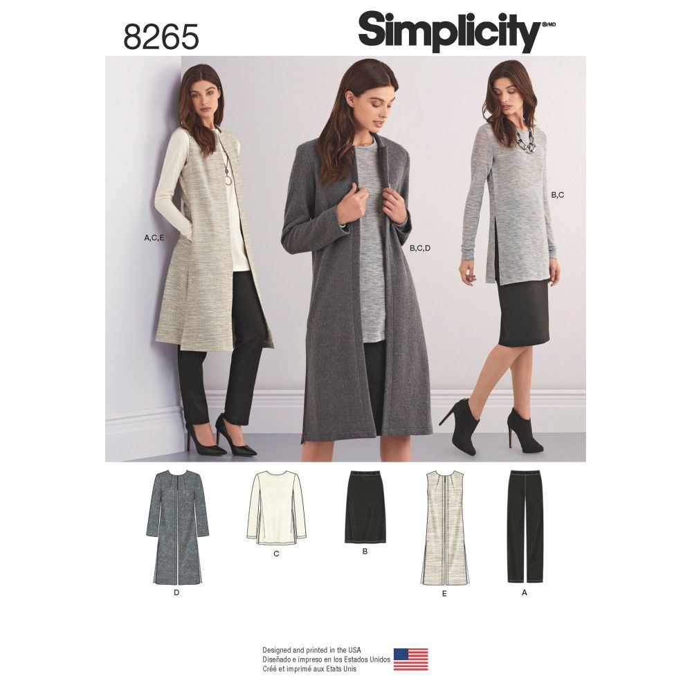 S8265 Simplicity sewing pattern H5 (6-8-10-12-14)