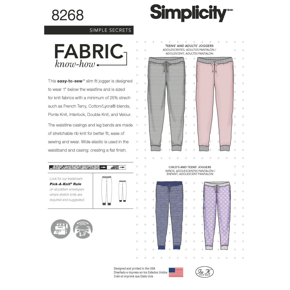 S8268 Simplicity sewing pattern A (XS - L / XS - XL)