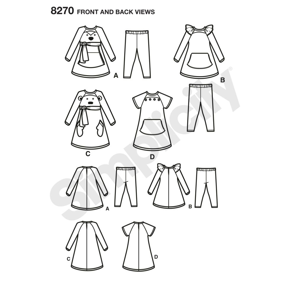 simplicity-children-pattern-8270-front-back-view