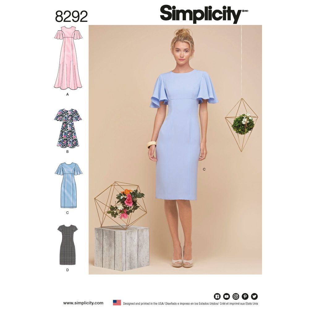 S8292 Simplicity sewing pattern R5 (14-16-18-20-22)