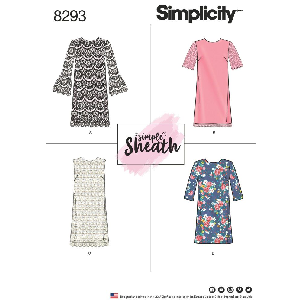 S8293 Simplicity sewing pattern R5 (14-16-18-20-22)