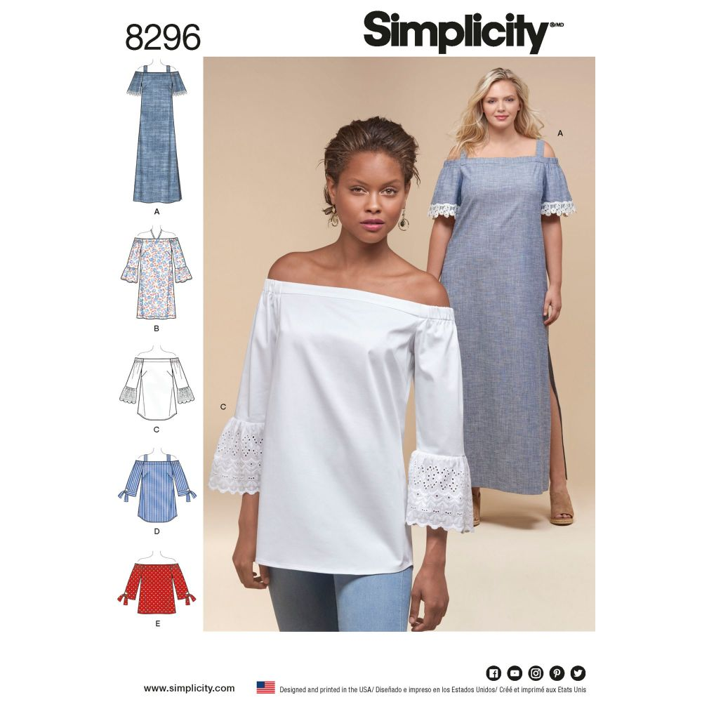 S8296 Simplicity sewing pattern AA (10-12-14-16-18)