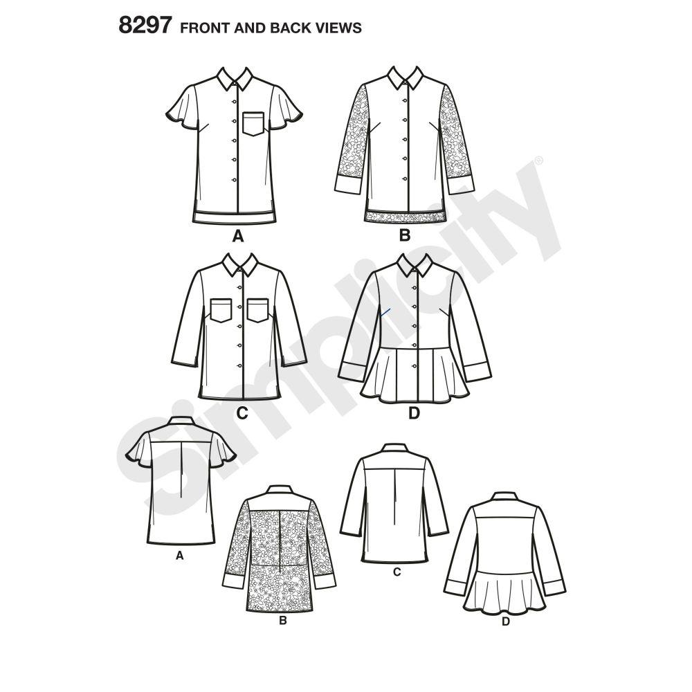 simplicity-top-vest-pattern-8297-front-back-view