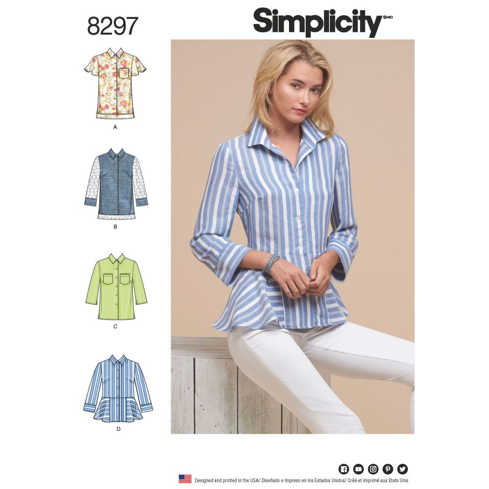 S8297 Simplicity sewing pattern H5 (6-8-10-12-14)