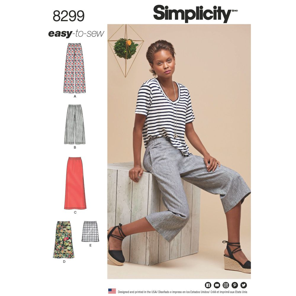 S8299 Simplicity sewing pattern H5 (6-8-10-12-14)