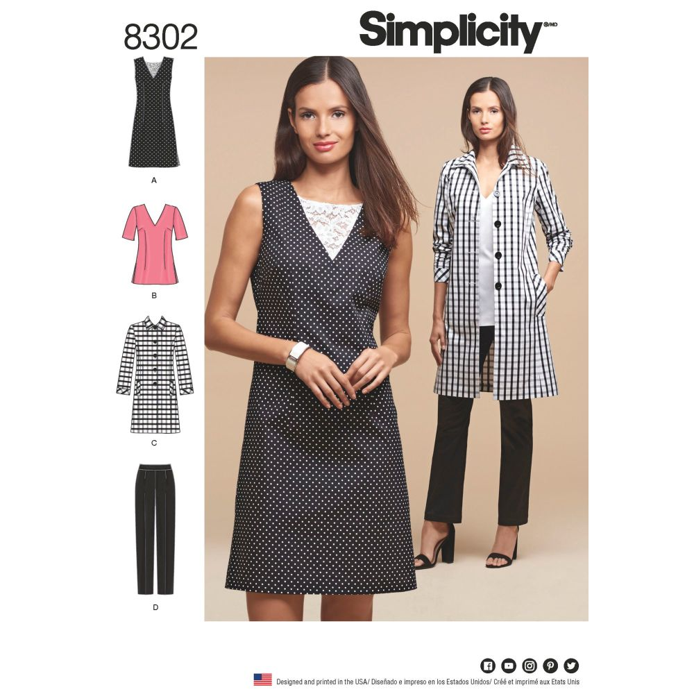 S8302 Simplicity sewing pattern AA (10-12-14-16-18)