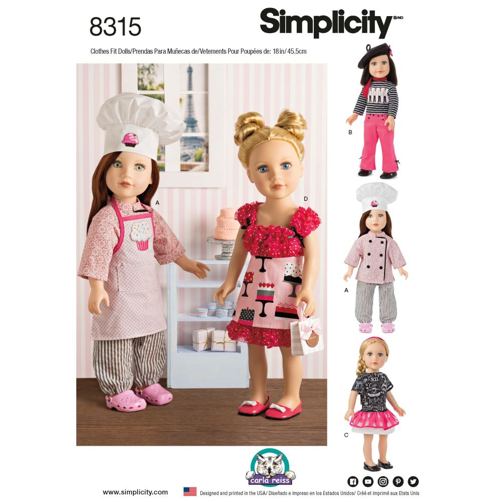 S8315 Simplicity sewing pattern OS (ONE SIZE)