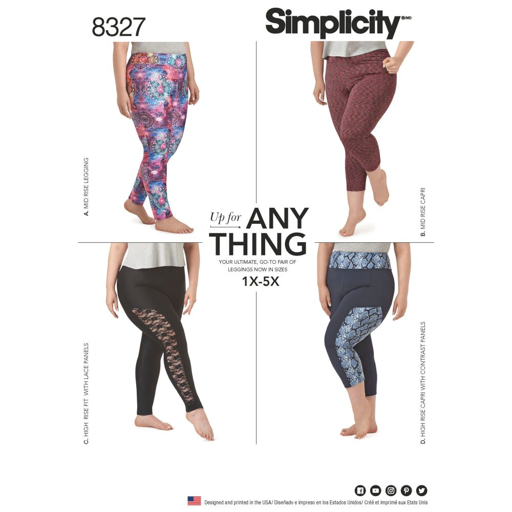 S8327 Simplicity sewing pattern A (1X-5X)