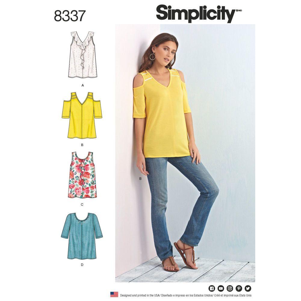S8337 Simplicity sewing pattern A (XXS-XS-S-M-L-XL-XXL)